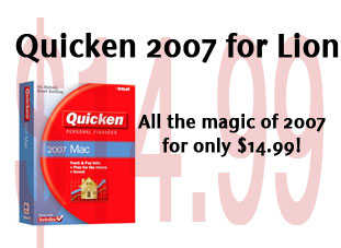 Quicken 2007 for Lion