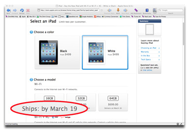 New iPad ship dates are slipping around the world