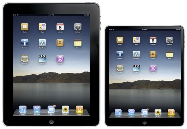 9 and 7 inch iPads