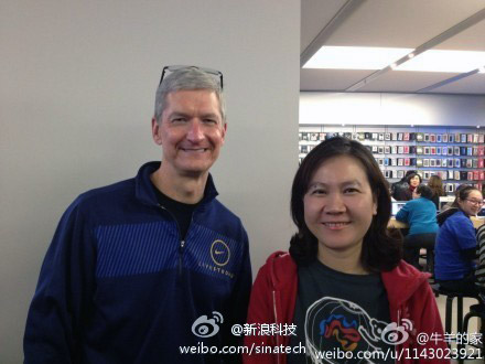 Tim Cook & Fan