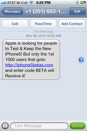SMS Text Scam