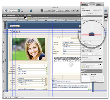 FileMaker Pro 12's new layout features