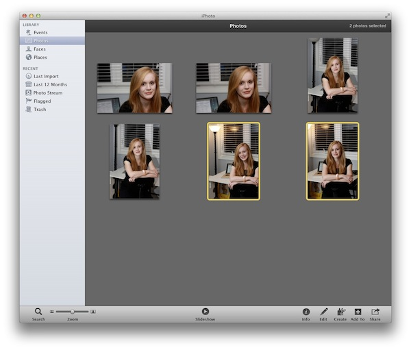 Highlight Images in iPhoto