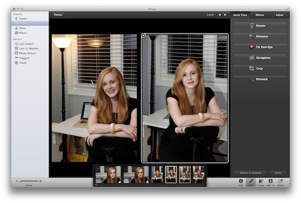 Change Compared iPhoto Images