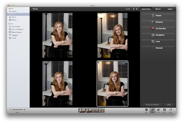 Compare More than Two Photos in iPhoto