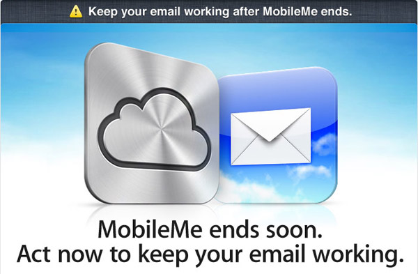 MobileMe Message from Apple