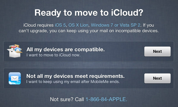 Ready to move to iCloud?