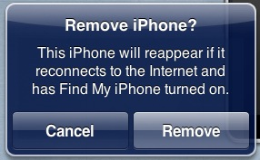 how to remove devices from find my iphone
