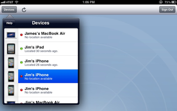 Find My iPhone iOS
