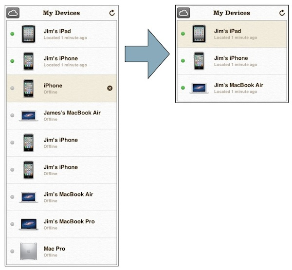 Clean Up Find My iPhone