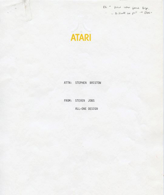 Sothebys To Auction Steve Jobs Atari Memo Photo Gallery The Mac