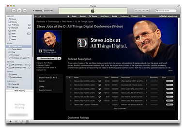Steve Jobs AllThingsD interviews on iTunes