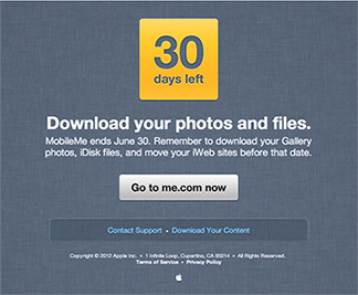Apple to MobileMe users: It's time to move to iCloud