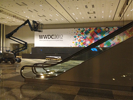 WWDC banners tout great ideas and great things
