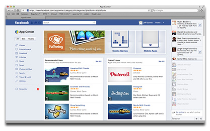 Facebook's App Center goes live