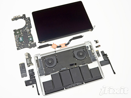 iFixit's look inside the MacBook Pro with Retina Display