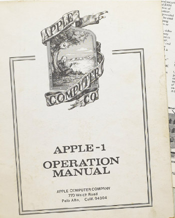 Apple I Manual Cover