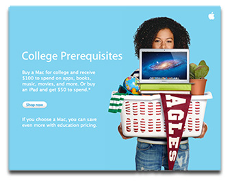 Apple Back to School promotion