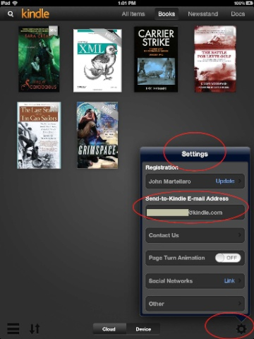 Kindle email