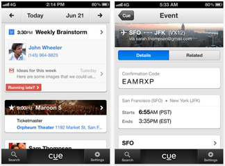 Cue keeps track of your important stuff right in your pocket