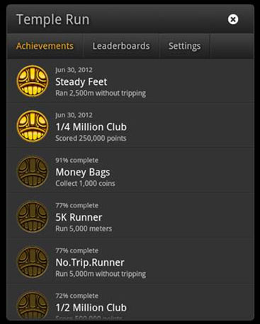 GameCircle Achievements Screenshot