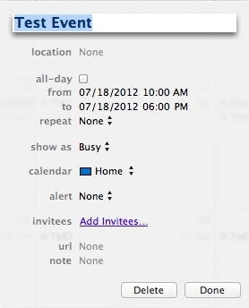 iCal Month View Default Duration