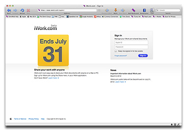 Apple's last warning: iWork.com ends today
