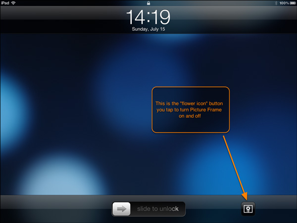 ipad lock screen flower button images