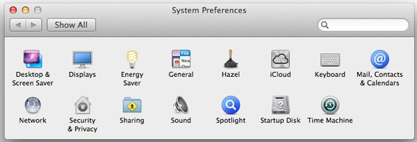 The author's customized System Preferences.