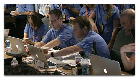 Macs played an important role in landing Curiosity on Mars