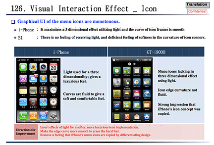 Samsung documents detail iPhone, Galaxy feature comparisons