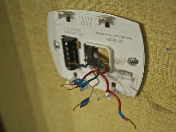 Nest Learning Thermostat Wire Labels Applied