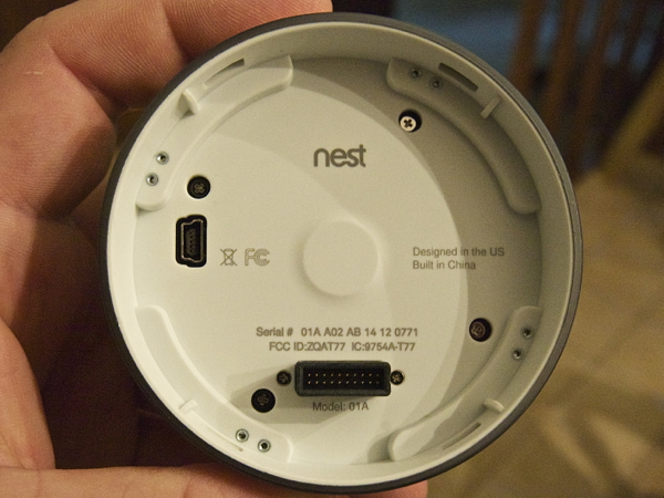 Nest Learning Thermostat Back