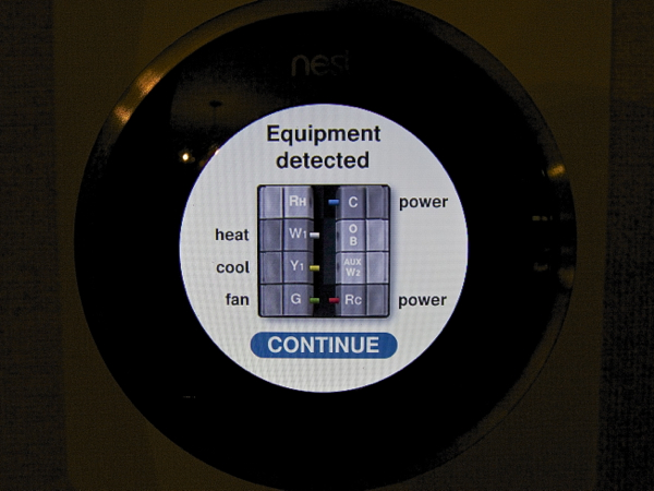 Nest Learning Thermostat Equipment