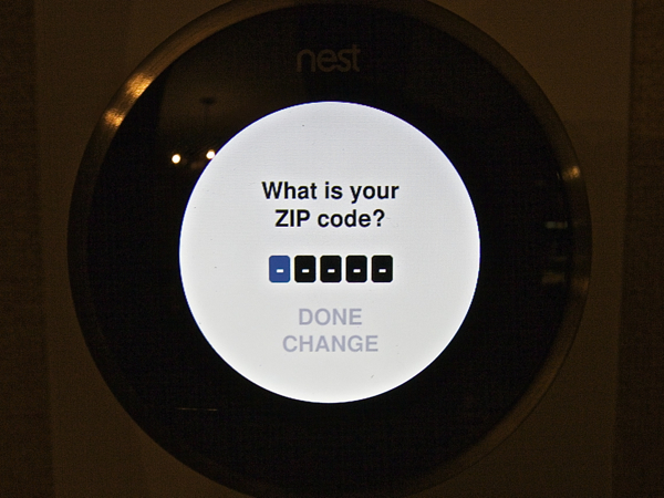 Nest Learning Thermostat Location
