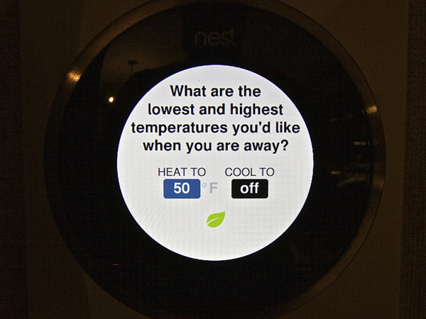 Nest Learning Thermostat Temp Range