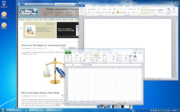 Windows 7 in VMware Fusion 5 Virtual Machine