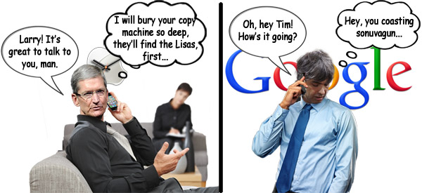 Tim Cook and Larry Page Talk