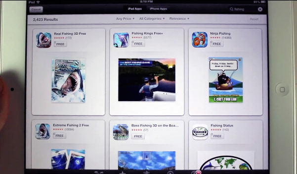iOS 6 App Store Search