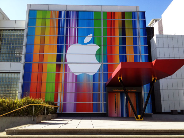 Apple decked out the Yerba Buena Center for today's media event