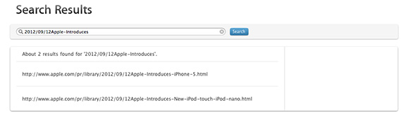 Apple site search shows iPhone 5, new iPod touch and iPod nano