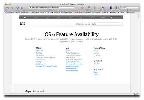 iOS 6 Features: Not Available Everywhere