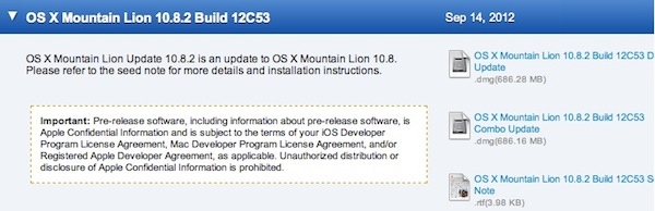 Mountain Lion 10.8.2 Build 12C53