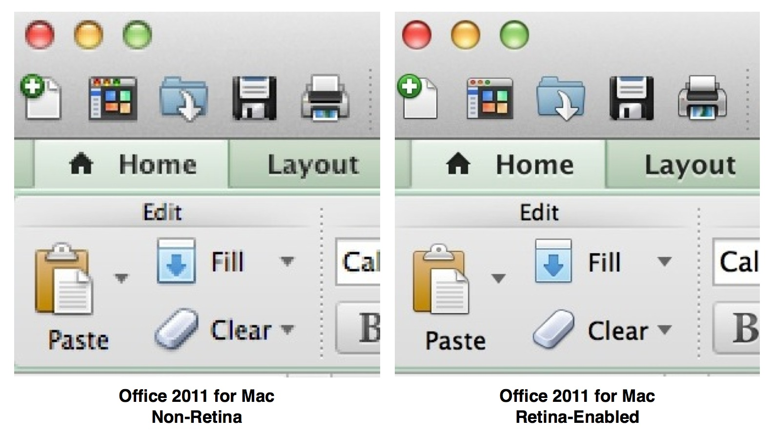 Office Retina Mac Comparison