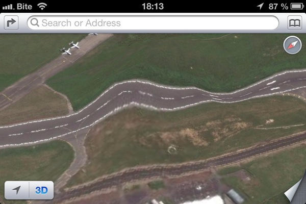 Apple iOS 6 Maps Runway