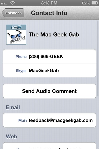 Mac Geek Gab iOS App