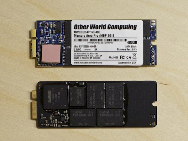 Aura Pro SSD compared to Stock Apple Retina SSD