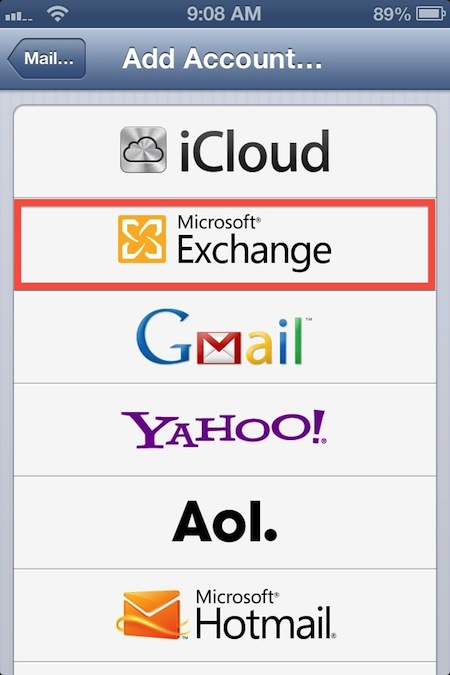 How to set up gmail on ios using exchange activesync the for Acc email