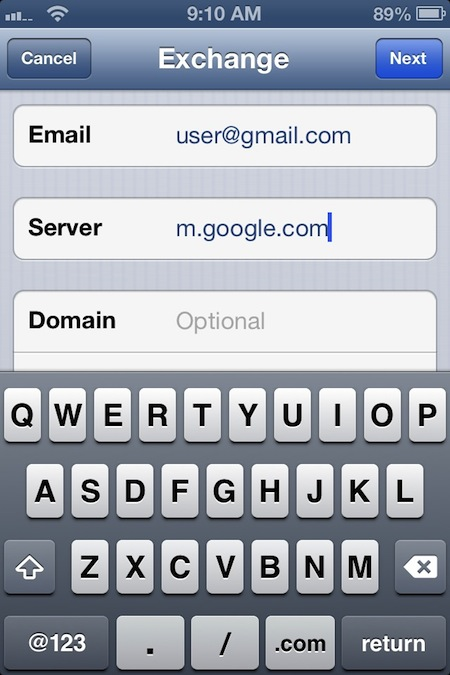 how to change gmail email address on iphone