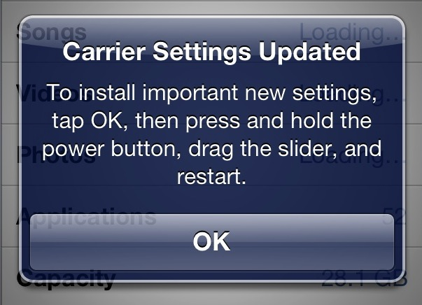 verizon iphone carrier update verizon iphone 5 carrier update fixes cellular data bug 16397